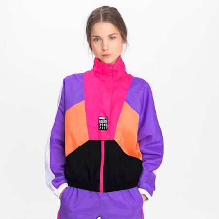 Tailored for Sport OG Retro trainingsjack voor dames, Fluo Pink, small