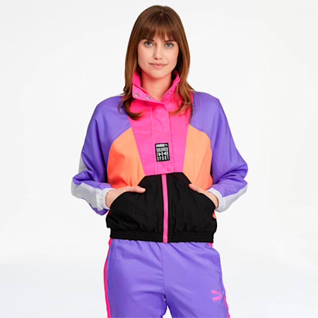 Tailored for Sport OG Women's Retro Track Jacket, Fluo Pink, small