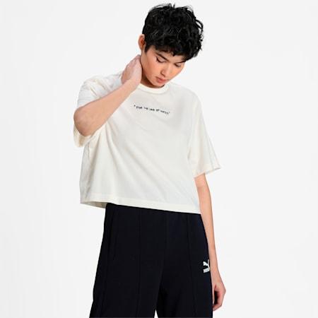 PUMA x CENTRAL SAINT MARTINS Women's Crew Neck T-Shirt, Puma White, small-IND