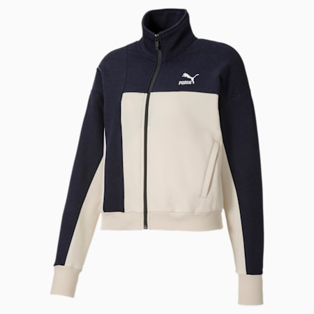 PUMA x CENTRAL SAINT MARTINS Women's Sweat Jacket, Peacoat, small-IND