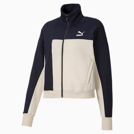 PUMA x CENTRAL SAINT MARTINS Women's Sweat Jacket, Peacoat, small-SEA