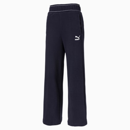 Damskie spodnie PUMA x CENTRAL SAINT MARTINS High Waist, Peacoat, small