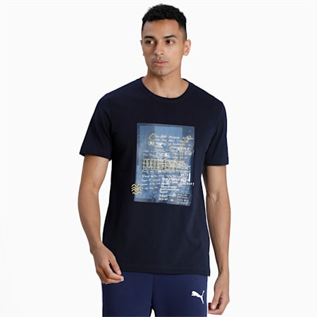 Koszulka PUMA x CENTRAL SAINT MARTINS Graphic, Peacoat, small
