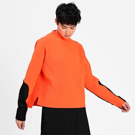 PUMA x CENTRAL SAINT MARTINS Chunky evoKNIT Women's Sweater, Dragon Fire, small-IND