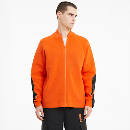 PUMA x CENTRAL SAINT MARTINS Men's Chunky evoKNIT Sweater, Dragon Fire, small