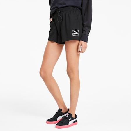 Tie Dye Mesh Women's Shorts, Puma Black, small