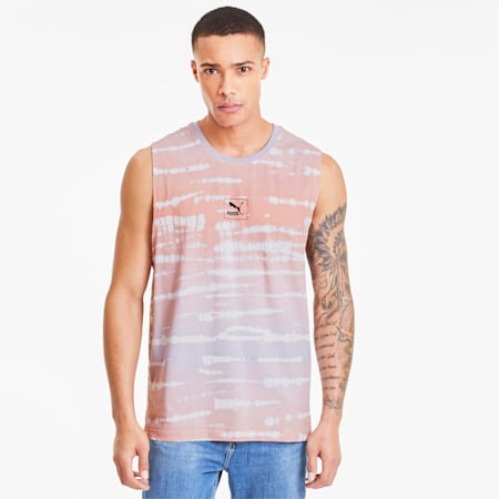 Tie Dye Men's AOP Tank, Purple Heather-AOP, small
