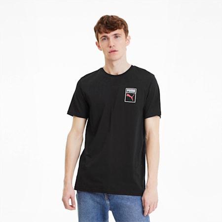 Small Box Logo Men's Graphic Tee, Cotton Black, small-SEA