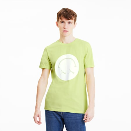 Streetwear Men's Graphic Tee, Sunny Lime, small-SEA