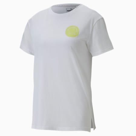 Women's Streetwear Graphic Tee, Puma White, small-SEA