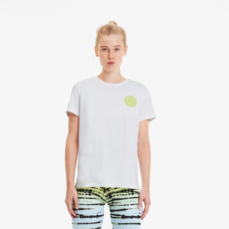 Women's Streetwear Graphic Tee, Puma White, small-SEA