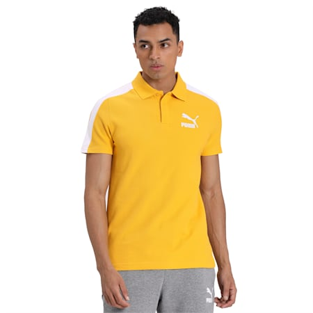 Iconic T7 Slim Polo, Golden Rod, small-IND