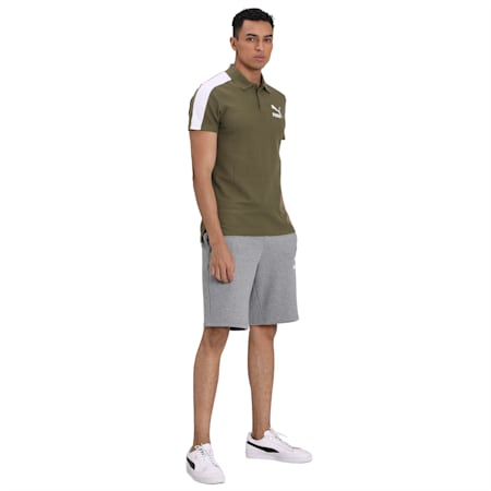 Iconic T7 Slim Polo, Burnt Olive, small-IND