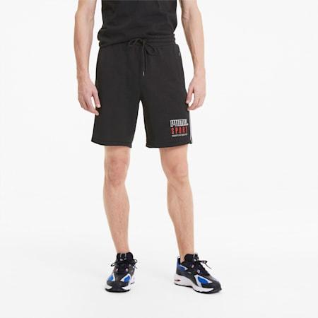 PUMA Sport Knitted Men's Shorts, Cotton Black, small-SEA