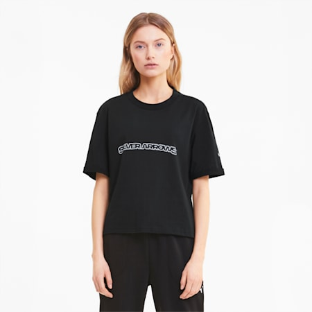 Mercedes Silver Arrows Women's Tee, Puma Black, small