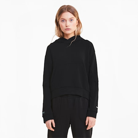 Mercedes Damen Hoodie, Puma Black, small