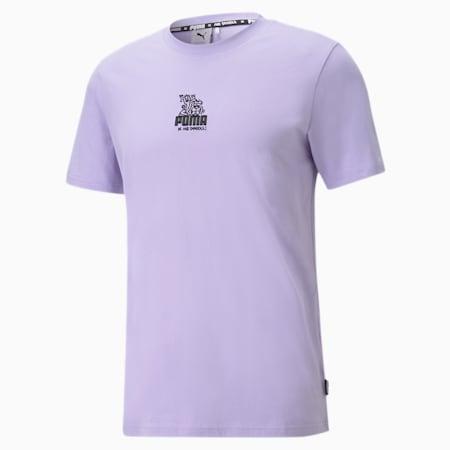 푸마 X 미스터 두들 반팔 티셔츠/PUMA x MR DOODLE Relaxed Tee, Purple Rose, small-KOR