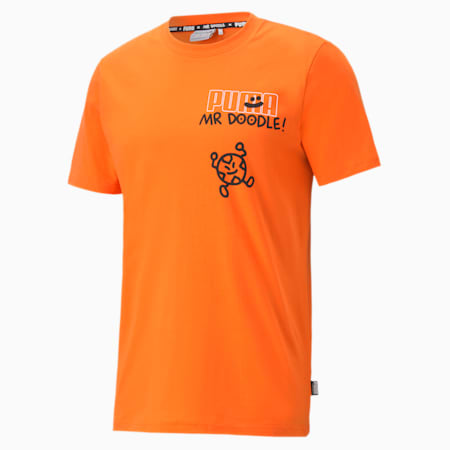 PUMA x MR DOODLE Men's Relaxed Tee, Dragon Fire, small