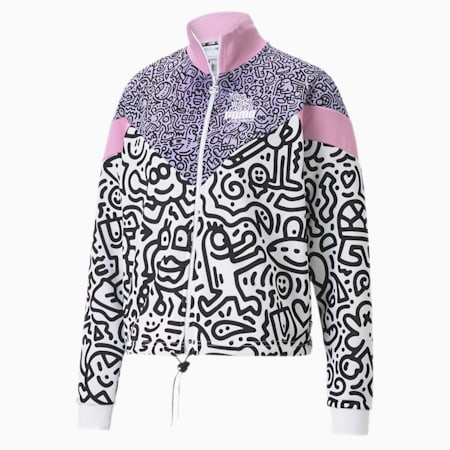 PUMA x MR DOODLE MCS Women's Jacket, Purple Rose-AOP, small-SEA