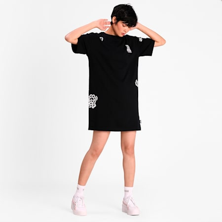 PUMA x MR DOODLE Women's Dress, Puma Black, small-IND