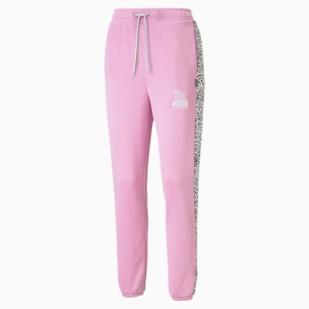 PUMA x MR DOODLE Women's Sweatpants, Pastel Lavender, small
