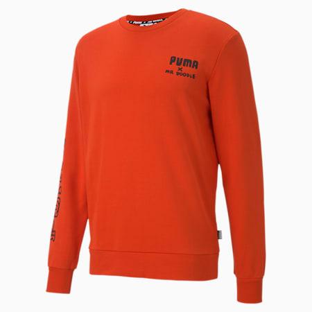 PUMA x MR DOODLE Men's Crewneck Sweatshirt, Poinciana, small