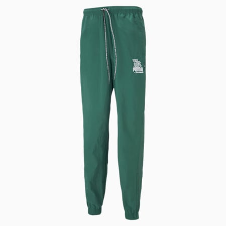 PUMA x MR DOODLE Men's Track Pants, Covert Green, small