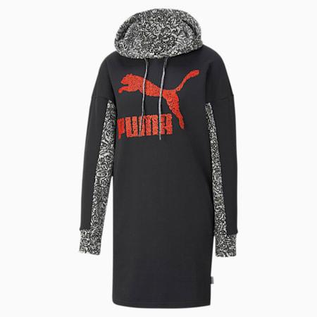 PUMA x MR DOODLE jurk met capuchon voor dames, Puma Black, small