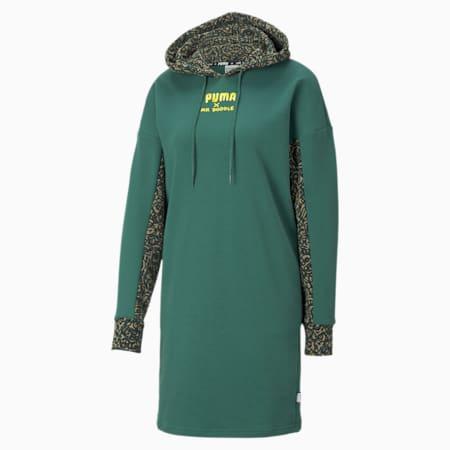 PUMA x MR DOODLE Women's Hooded Dress, Covert Green, small