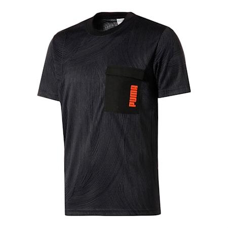 Żakardowa koszulka PUMA x CENTRAL SAINT MARTINS, Puma Black, small