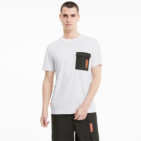 Żakardowa koszulka PUMA x CENTRAL SAINT MARTINS, Puma White, small