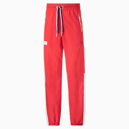 Dream Shake Warmup Men's Basketball Pants, High Risk Red-Puma White, small