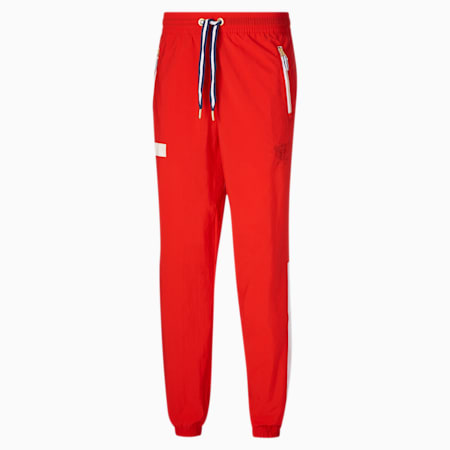 Dream Shake Men's Warm Up Pants, High Risk Red-Puma White, small