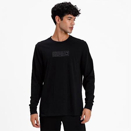 BOUNCE LS T-Shirt, Puma Black, small-IND
