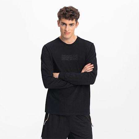 T-Shirt à manches longues Bounce Basketball pour homme, Puma Black, small