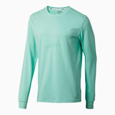 Bounce Long Sleeve Men's Basketball Tee, Mist Green, small