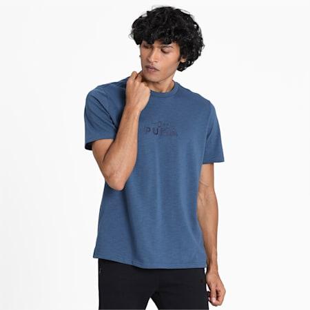 PULL UP SS T-Shirt, Dark Denim, small-IND