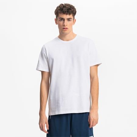 Pull Up Herren Basketball T-Shirt, Puma White, small