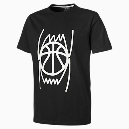 Pull Up Men's Basketball Tee, Puma Black, small-SEA