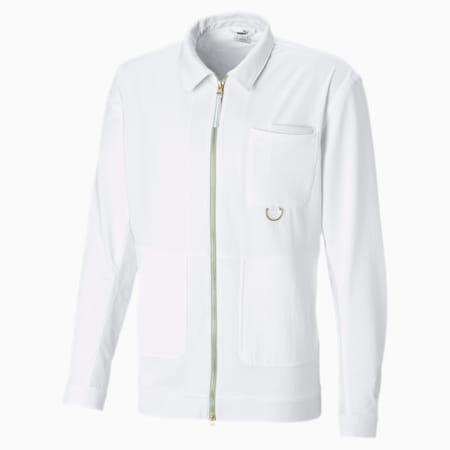Crossover Men's Basketball Track Jacket, Puma White-Puma White, small-SEA