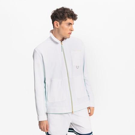 Crossover Men's Basketball Track Jacket, Puma White-Puma White, small