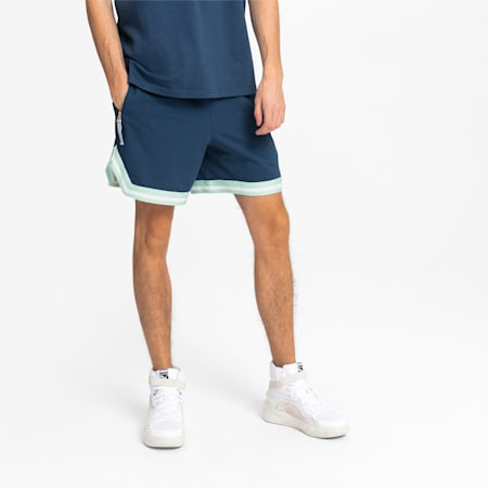 Step Back Men's Basketball Shorts, Dark Denim, small