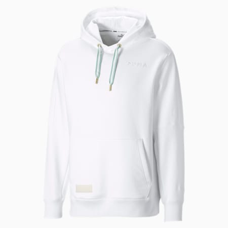 Tear Drop Men's Basketball Hoodie, Puma White, small-SEA