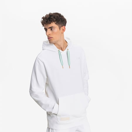 Tear Drop Herren Basketball Hoodie, Puma White, small
