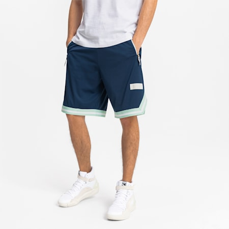 Spin Move-basketballshorts til mænd, Dark Denim, small