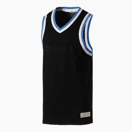 Camiseta de básquetbol Fadeaway para hombre, Puma Black, pequeño