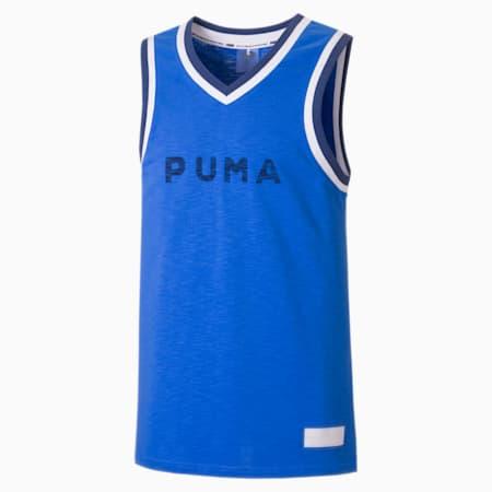 Męska koszulka koszykarska Fadeaway, Palace Blue, small