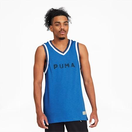 Fadeaway Men's Basketball Jersey, Palace Blue, small