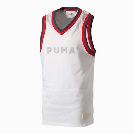 Camiseta de básquetbol Fadeaway para hombre, Puma White, pequeño
