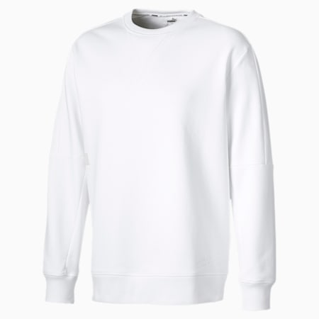 Sweatshirt à encolure ras du cou Jump Hook, homme, Blanc Puma, petit